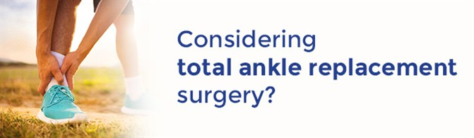 ankle replacement surgery banner