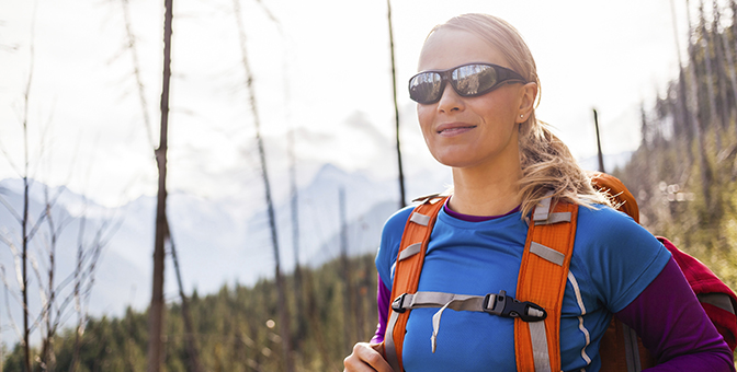 Protective eyewear for an active lifestyle