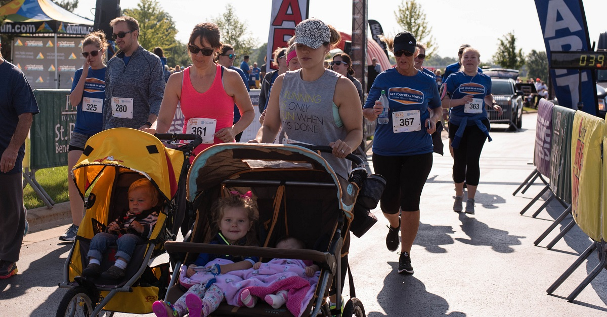 Yes, jogging strollers are welcome at Get Your Rear in Gear