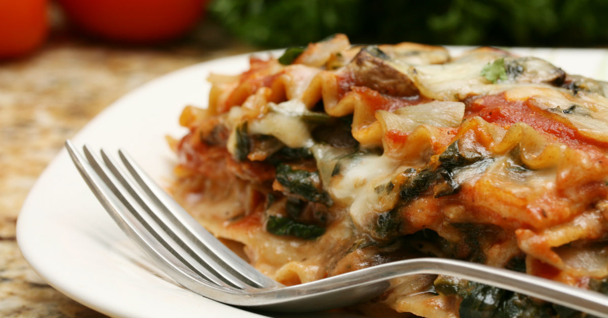 Enjoy lasagna made heart-healthy