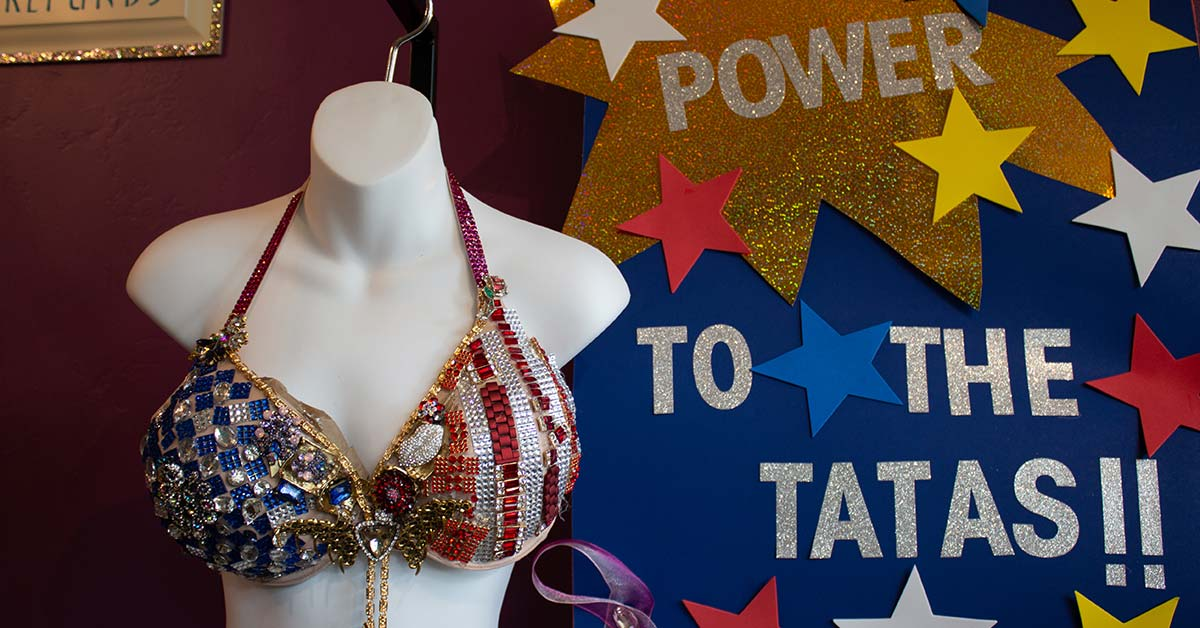 red white and blue decorated bra