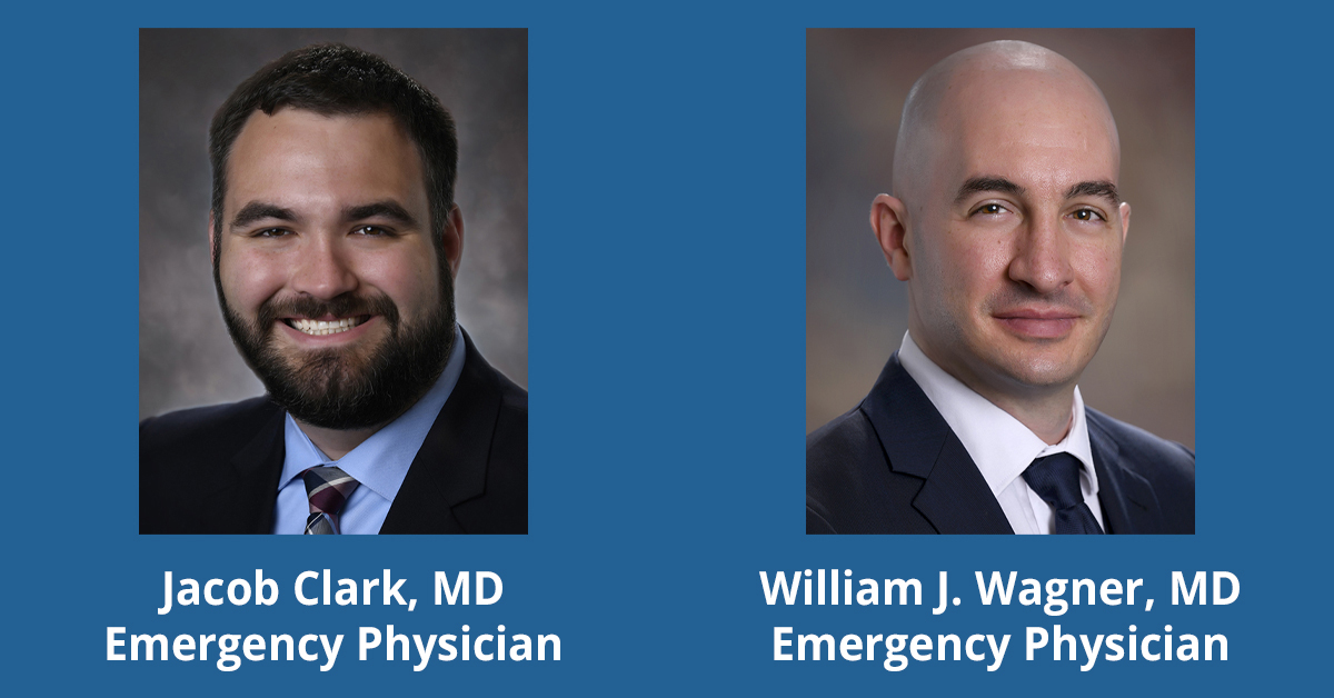 Headshots of Drs. Jacob Clark and William Wagner