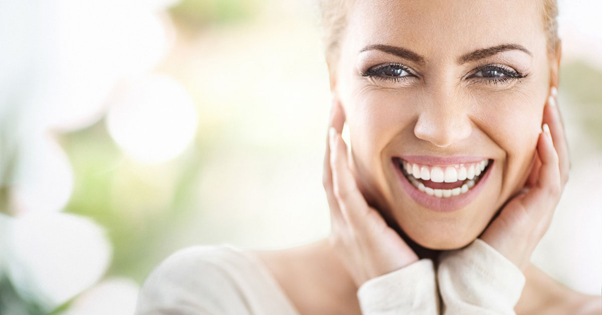 healthy skin woman smiling