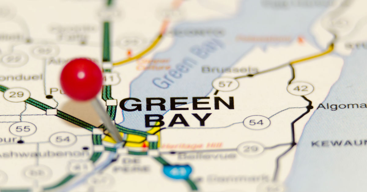 Green Bay area map
