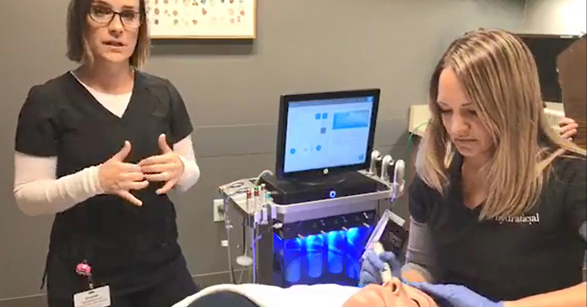 Watch: Medical aestheticians perform live HydraFacial®