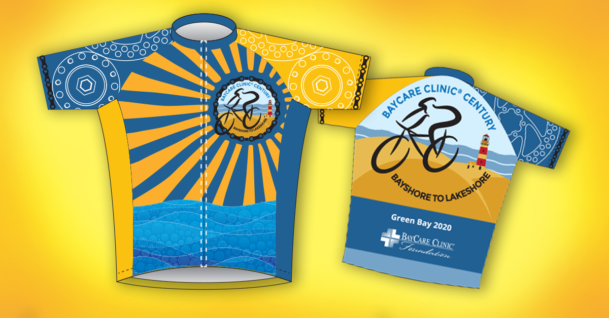 The 2020 BayCare Clinic Century Bayshore to Lakeshore commemorative jersey.