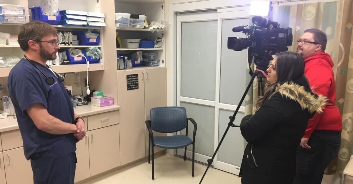Dr. Christopher Painter is interviewed by WBAY Channel 2 News