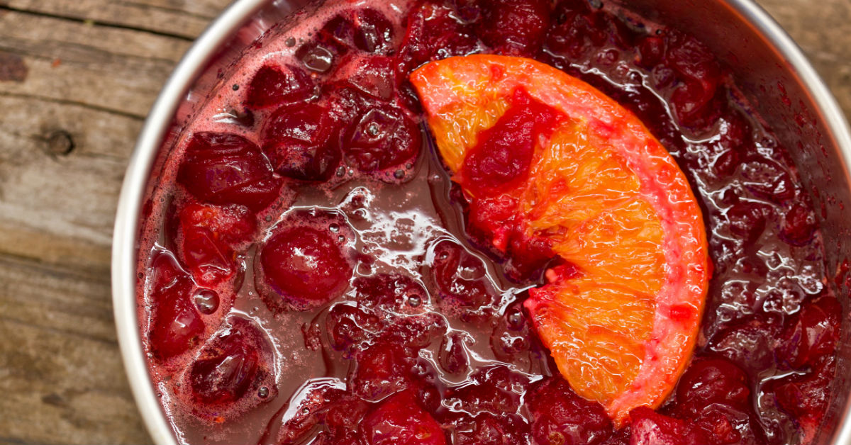 Cranberry wine relish