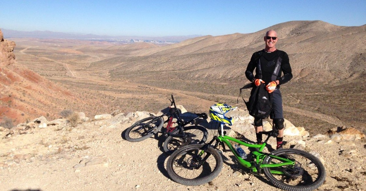 Dr. James Zasuly of BayCare Clinic pictured with his mountain bike