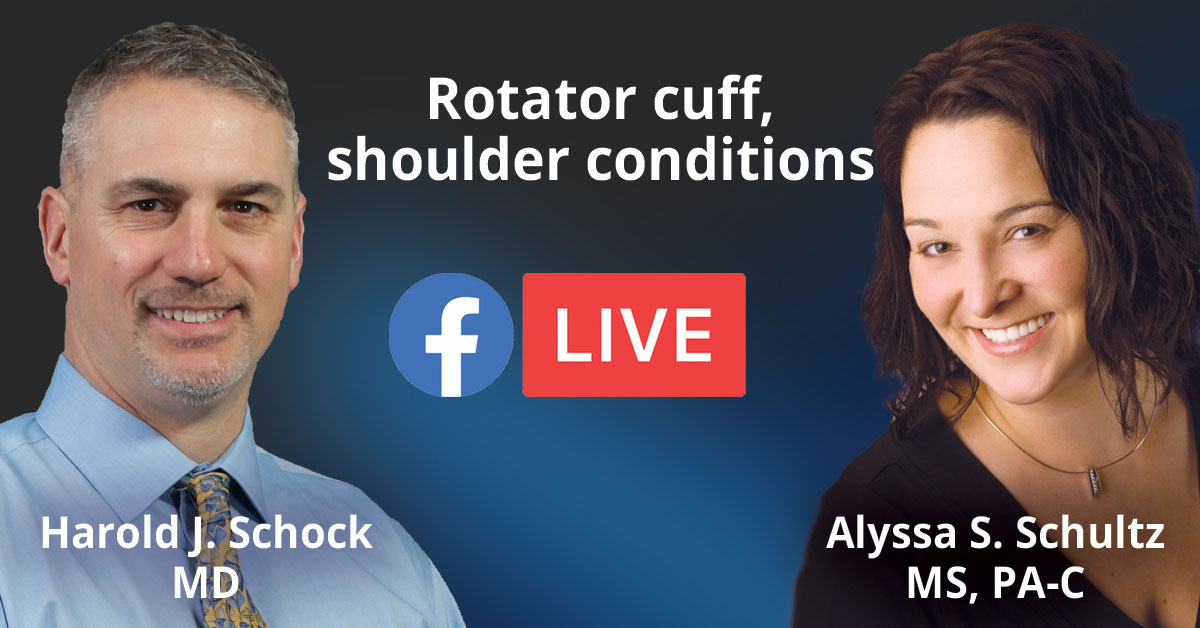 Facebook Q&A: Rotator cuff conditions, treatments
